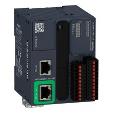 (TM221M16RG) ПЛК M221B ПРУЖ 16 ВХ/ВИХ РЕЛЕ 1RS485, Schneider Electric
