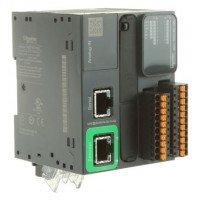 (TM221ME16RG) ПЛК M221B ПРУЖ 16 ВХ/ВИХ РЕЛ 1RS485 1ETH, Schneider Electric