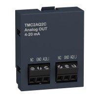 (TMC2AQ2C) Картридж расширения аналогового вывода для контроллеров серии Modicon M221: 2AIO (4-20МА), Schneider Electric