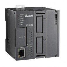 (AS300N-A) Процессорный модуль серии AS, без встроенных I/O, Ethernet, 2xRS485, 2 слота под платы расширения , Delta Electronics