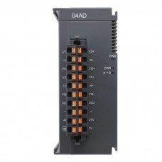(AS04AD-A) Модуль расширения аналогового ввода для процессорного модуля AS, 4 AI, потенциальный и токовый режимы, Delta Electronics