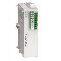 (DVP02DA-S) Модуль расширения аналогового вывода для контроллеров серии DVP-S**: 2AO, RS-485, Uпит=24В DC, Delta Electronics