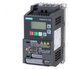 (6SL3210-5BB12-5UV1) Преобразователь частоты Siemens SINAMICS V20, P=0,25 кВт, Uвх=1Фх220В/Uвых=3Фх220В