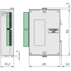 (DVP04AD-SL) Модуль расширения аналоговых входов для контроллеров серии DVP-S**, 4 входа, аварийный выход, Delta Electronics
